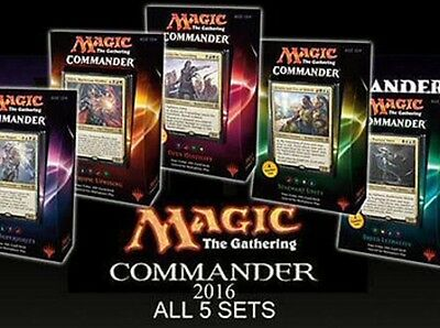 Magic the Gathering Commander 2016 Decks Set - 5 decks
