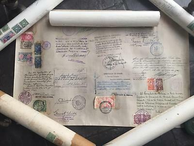 1930s-40s Doctor Cambridge/London University Documents South America Stamps