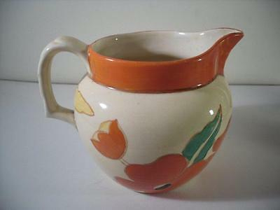 A Clarice Cliff 'Red Roof' Perth Pattern Jug : c1931