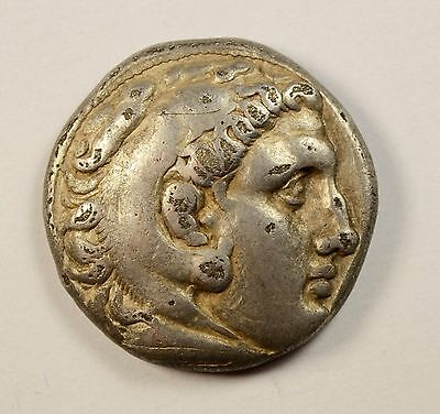 ALEXANDER The GREAT Silver TETRADRACHM Ancient Greek Coin Herakles Zeus