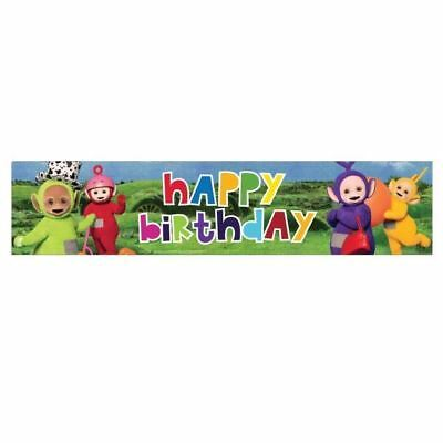 Teletubbies 2.7m Holographic Foil Banner Childrens Birthday Party Decoration