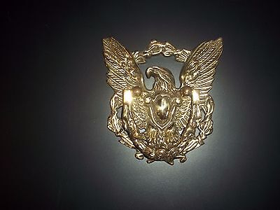 "Solid Brass Eagle Door Knocker (5-5/8"" wide X 6"" high)"