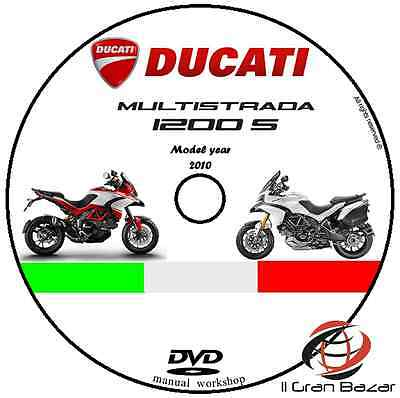 Manuale Officina Ducati Multistrada 1200 S My 2010 Workshop Manual Dvd