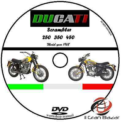 Manuale Officina Ducati Scrambler My 1968 Workshop Manual Service Cd Dvd