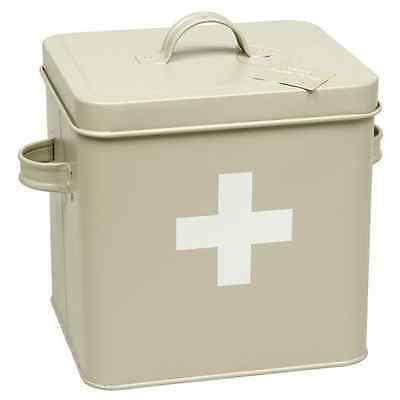 Vintage Retro Style First Aid Tin Box with Lid - SAME DAY DISPATCH