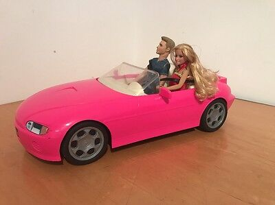 Barbie Motorized Hot Pink Convertible Car.