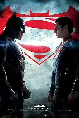 "BATMAN V SUPERMAN DAWN OF JUSTICE 2016 Orig Final DS 2 Sided 27x40"" Movie Poster"