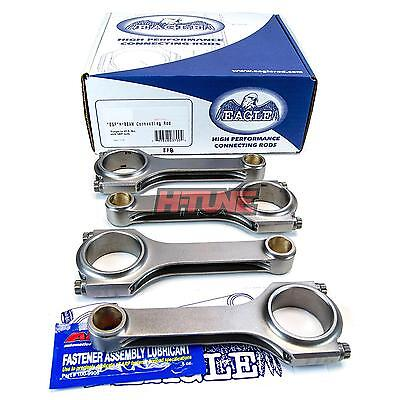 Eagle Forged H-Beam Connecting Rods (Set) - Mitsubishi 4G63 (6-Bolt for 22mm Pin