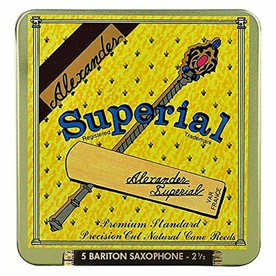 SUPERIAL AS725 2.5 Baritone Sax Reeds Pack of 5