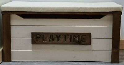 personalised wooden toy box solid pine  4 sizes 20 colours hand made