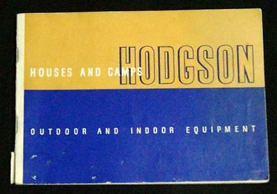 Hodgeson Houses & Camps Plans Advertising Home Sales Catalog Brochure 1938
