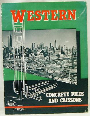 Western Concrete Piles & Caissons Advertising Brochure Vintage Construction