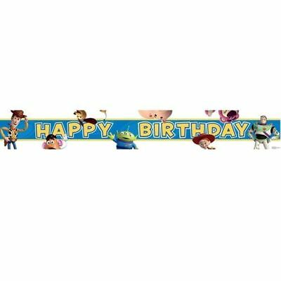 Disney Pixar Toy Story Happy Birthday Party  4.5m Foil Banner
