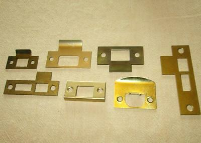 7 Vintage Door Latch Striker Plates Mortise Hardware Parts