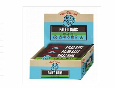 12 x 45g Bar BLUE DINOSAUR Cacao Mint Paleo Bars