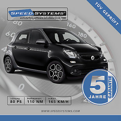 Chiptuning Smart Forfour (453) 1.0 / 52 Kw
