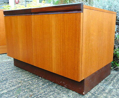 Retro Teak G Plan Vinyl Record Stereo Cabinet Storage - VGC, Delivery Available