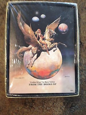 Boris Vallejo From Books of Antioch Papers Golden Wings 1977 Book Plates New