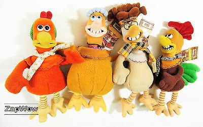 CHICKEN RUN 1999 Soft Toys Mac Babs Rocky Ginger Plush Dreamworks Aardman Pathe