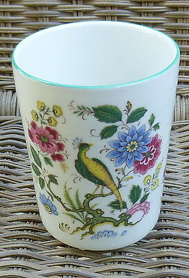 James Kent Old Foley Green Yellow Bird & Blue Pink Flowers Drinking Cup