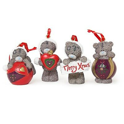Me to You Tatty Teddy Christmas Tree Decorations set of 4 - New for Winter 2016