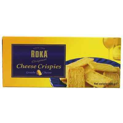 Roka Gouda Cheese Crispies 100 g (Pack of 8) - SAME DAY DISPATCH