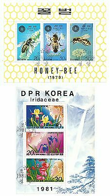 Korea 1981 2 Sheets Dpr Iridaceae + Honey Bee  Used