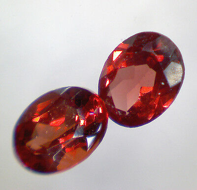 2 GRENAT PYROPE taille ovale 4x3 mm 0,46 cts paire - Saphirboutique