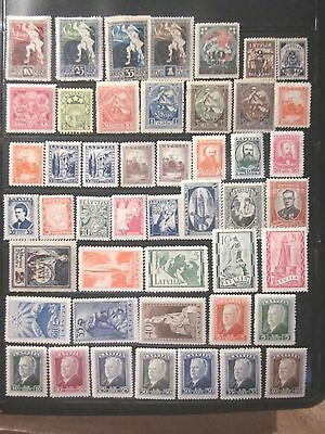 Latvia 1919-40, MH, Lot of Almost full sets F-VF.
