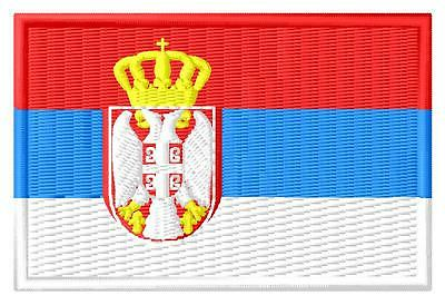 Flagge Serbien Flag Serbia iron-on Aufnäher patch