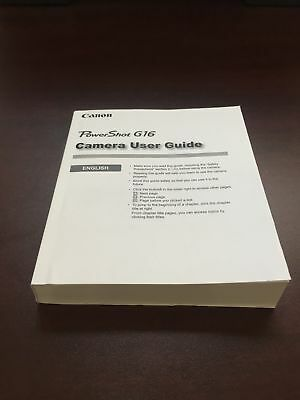 Canon Powershot g16 Digital Camera User's Guide Book Brand New. Never Used