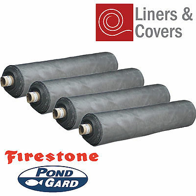 Firestone 1mm Thick Heavy Duty EPDM Rubber Pond Liner (Multiple Sizes)