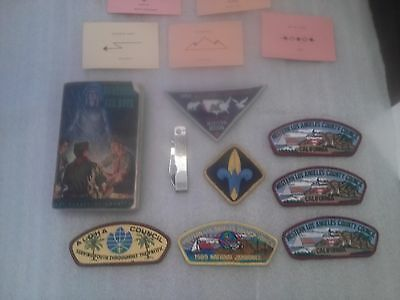 Vintage Boy Scouts 1957 Handbook for Boys - plus misc patches and items