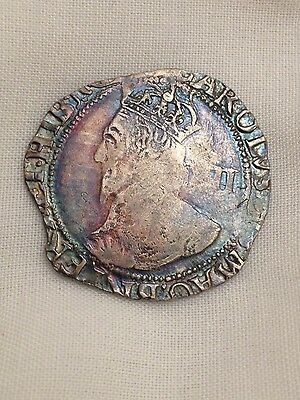 charles i silver hammered shilling coin metal detecting find