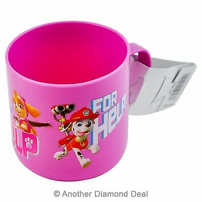 Childrens Pink Paw Patrol 100% Official Licensed Plastic Cup/mug With Handle New