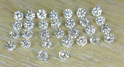 0.8-1mm 0.12cts 30pc I Clarity J Color Natural Loose Brilliant Cut Diamond Round