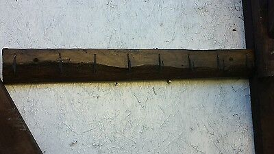 vintage  coat hook / kitchen utensil rack / bathroom  / 500 YEAR OLD OAK  beam