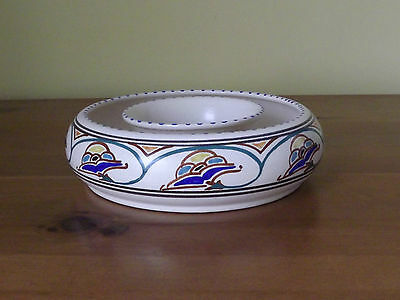 Vintage Honiton Pottery Hand Painted Posy Ring (L56,74)