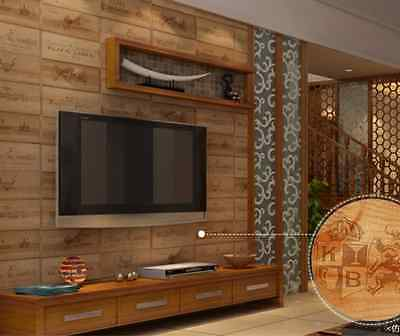 Nature Wood Home Decor TV Feature Wall Wall Wallpaper Roll 10m