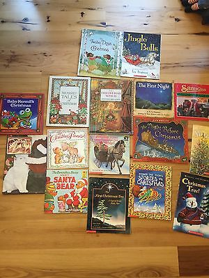 Lot Of 16 Children's Christmas Picture Books ~ Hardback ~ Paperback ~ Holiday