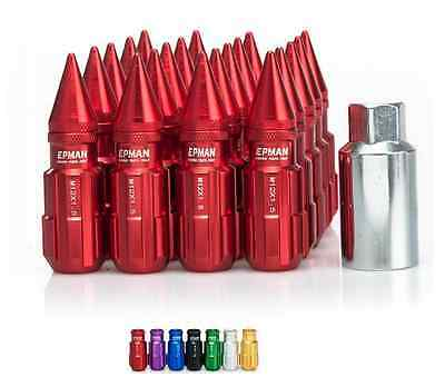 RED Tuner Extended Anti-Theft Wheel Security Locking Lug Nuts M12x1.25 20pcs