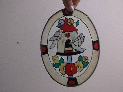4 stain glass ovals