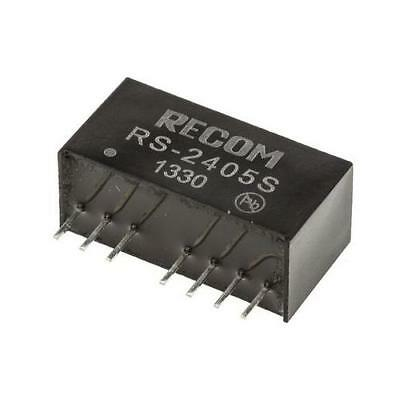 1 x Recom 2W Isolated DC-DC Converter RS-2405S, Vin 18-36V dc, Vout 5V dc