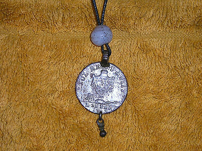 Medieval German Pendant 18th Century dated 1703 French Medal ready to wear !