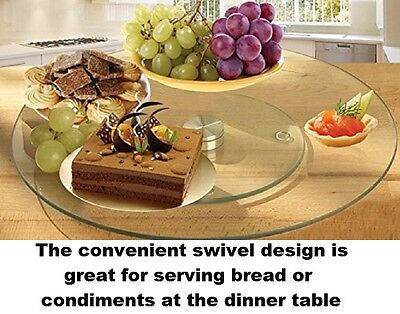Table Organizer Tempered Glass Rotating Turntable Serving Tray Cake Decorating