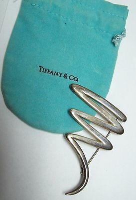TIFFANY & CO Paloma Picasso Sterling Abstract Scribble  Pin Brooch