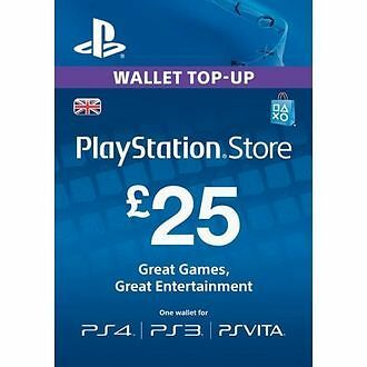 GBP25 Sony Playstation Network Card PSN UK (PlayStation Vita/PS3/PS4)