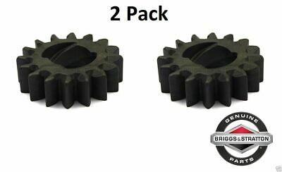 2 Pk Genuine Briggs & Stratton 695708 Starter Drive Gear 16T Replaces 280104 OEM