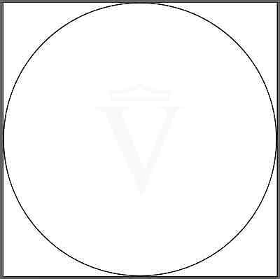 """Printed Clear Round Stickers, 1000 Custom 1"""" Business Labels, White Ink, on roll"""