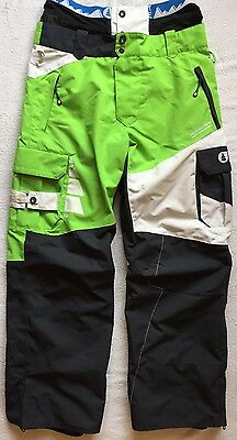 Picture Organic Respect Mens Ski Snowboard Pants Salopettes Trousers Green Large